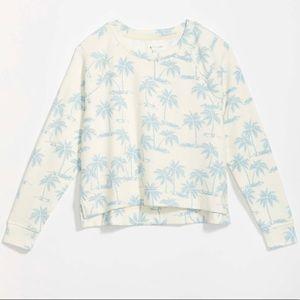 NWT Lou & Grey Palm Tree Terry Sweatshirt Size XS